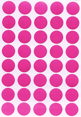 (Round Stickers Color dots Labels 19mm 3/4 inch - Pink - 600 Pack by Royal Green)