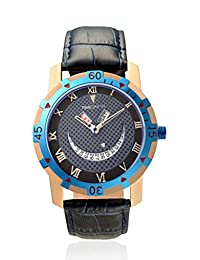 TimeSmith Limited Edition Blue Dial Blue Genuine Leather Watch for Men with Day and Date TSM-076