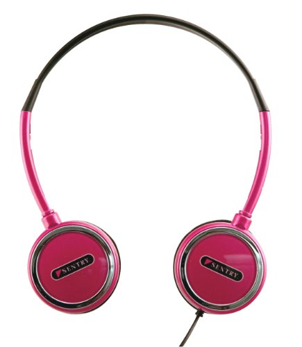 Sentry HO303 Headart Extreme Folding Earphones, Pink (Sentry Earphones Headphones)