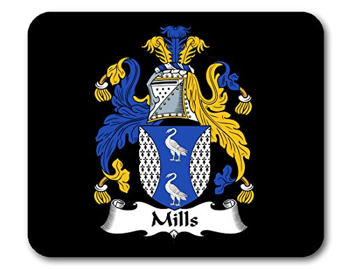 Mills Coat of Arms/Mills Family Crest Mousepad by Carpe Diem Designs, Made in The U.S.A