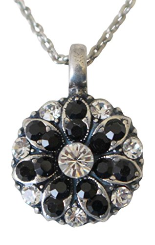 Mariana Guardian Angel Black & Clear Swarovski Crystal Pendant Necklace 280-1
