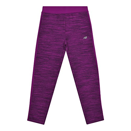 - New Balance Girls' Big' Dual Face Pant, Poisonberry/Black, 7/8