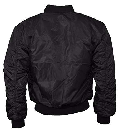 Xl M Fashions Blouson Plain Zipper Impermable Black S L Longues Manteau Manches Ladies Islander Dcontract Ma1 A761qT6w