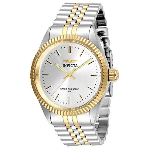 Invicta Men's Specialty Gold-Tone Steel Bracelet & Case Quartz Silver-Tone Dial Analog Watch 29378