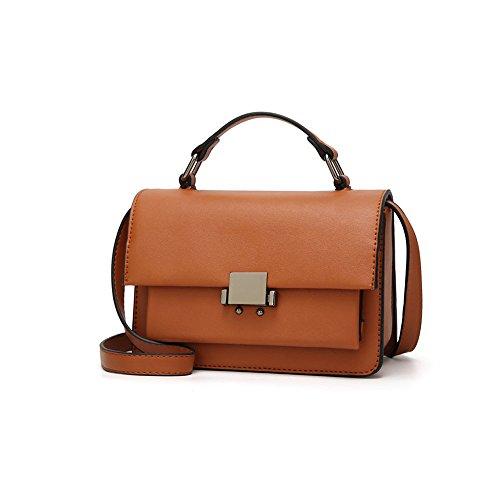 Ajlbt Simple Bag Tide Small Wild Pack Bag Leisure Fashion Temperament Bag Messenger Bag Brown