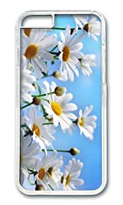 MOKSHOP Adorable Camomile Background Hard Case Protective Shell Cell Phone Cover For Apple Iphone 6 (4.7 Inch) - PC Transparent