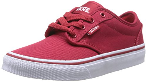 Red Yt Boys' White Sneakers Low Atwood Vans Top 0znr5gh C7xwFWz