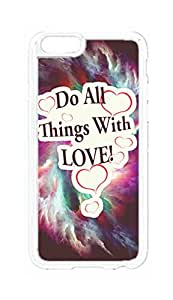 "RainbowSky iPhone 6 Plus (5.5"" Inch) Case - Do All Things With Love Hard Plastic Back Protection Phone Case Cover -1317"