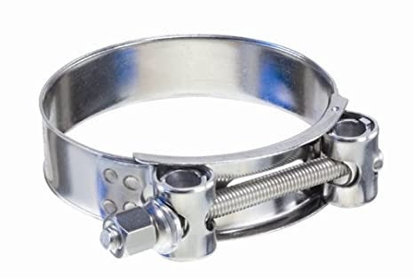 Campbell Fittings 3//4 Wide x 0.025 Thick T-Bolt Band Clamp 1-1//2 Hose 8 Pack