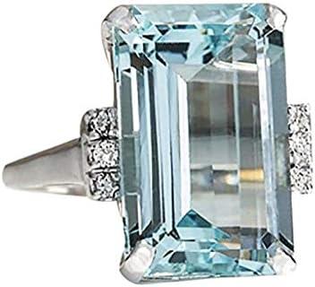 [해외]Luxury Luminous Diamond Wedding Ring for Women Retro Large Square Diamond Band Rings Valentine`s Day Gift / Luxury Luminous Diamond Wedding Ring for Women Retro Large Square Diamond Band Rings Valentine`s Day Gift