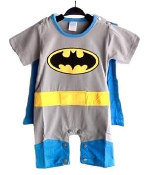 843f0670bf6e3 Spiderman Superman Batman Supergirl pour bébé tout en 1 Déguisement  grenouillère Convient avec cape (80
