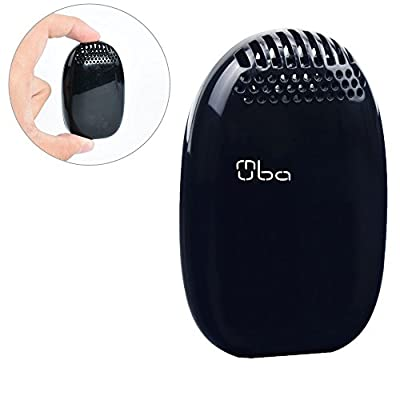 Portable Air Purifier - MUBA Hanging Mini Air Cleaner Provide 1.5 million/cm3 Negative Ions Removes Pollen Dust Tobacco Odor Ideal for Smokers Pets Owners 100% Ozone Free