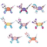 8 Packs Cute DIY Animal Elasticity Twist Magic Tricks Kids Toys Pets Bracelets - - Random Color