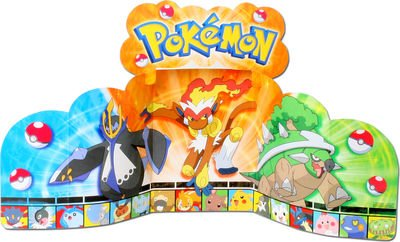 Pokemon 'Diamond and Pearl' Stand-Up Centerpiece