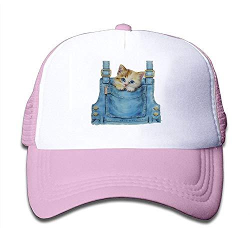 Verna Christopher Pocket Kitten Kids Mesh Cap Trucker Caps Adjustable Hat