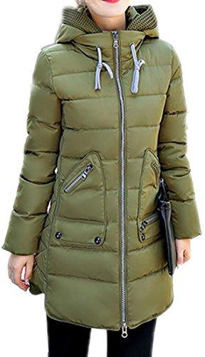 Classic 2 Womens Winter Length MK988 Jacket Warm Hoodie Mid Puffer qOzgcv5B