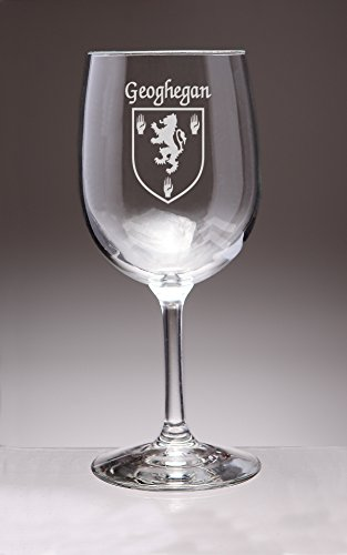 Geoghegan Coat (Geoghegan Irish Coat of Arms Wine Glasses - Set of 4 (Sand Etched))
