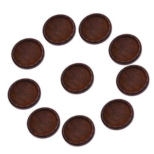 CUTICATE 10PCS Round Wood Cabochon Wooden Cameo Base Settings Fit 30mm/1.18inch Resin Gemstones Diamond for Necklace Earrings Bezel Jewelry Findings - A