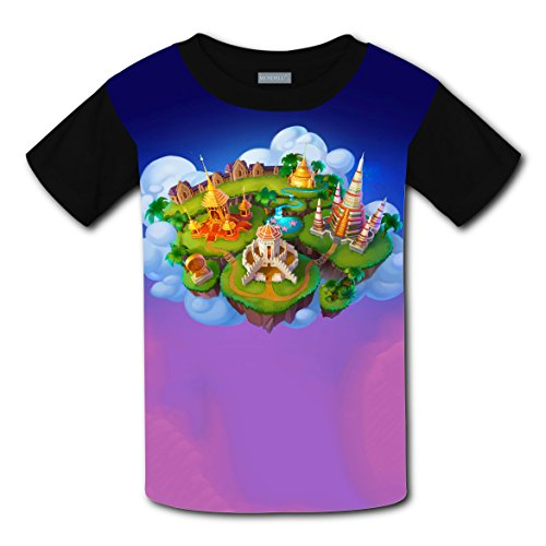 Crew Neck New Fashion T-Shirts 3D Customizable With Castle For Unisex Kid - In City Shopping Oklahoma Centers