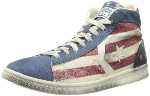 Pro Sneaker amp;bars unisex Stars LP Leather adulto Canvas Converse Distressed MID 74ndTqdw