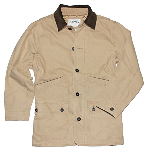 Cotton Canvas Jacket (Orvis Men's Corduroy Collar Cotton Barn Jacket (XX-Large, Saddle))