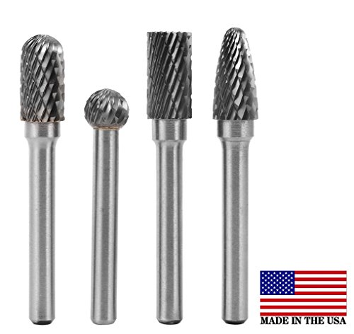 4 Pieces Tungsten Carbide Rotary Burr SET 1/4