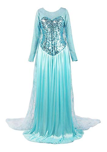 ReliBeauty Women's Elegent Princess Dress Costume Light Blue, Large -