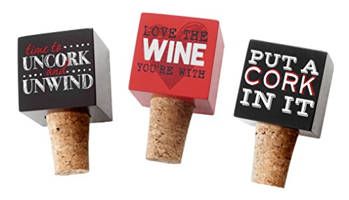 Wine Sayings Humorous Box Style Bottle Toppers - Set of 3
