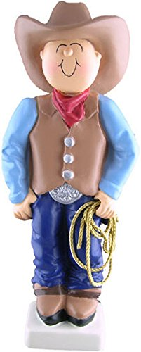 Personalized Cowboy Western Christmas Ornament]()