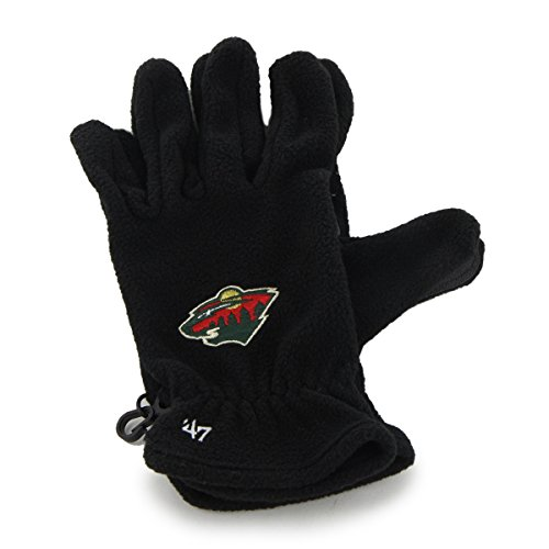 Fleece Minnesota Twins Pullover - '47 NHL Minnesota Wild Fleece Gloves, Black, One Size