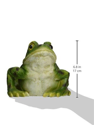 "Design Toscano QM20510 Ribbit The Frog Garden Toad Statue, 9"", Full Color"