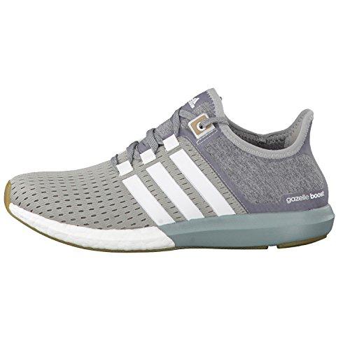 adidas Damen Laufschuhe cc gazelle boost medium grey heather/ftwr white/green earth f15 37 1/3
