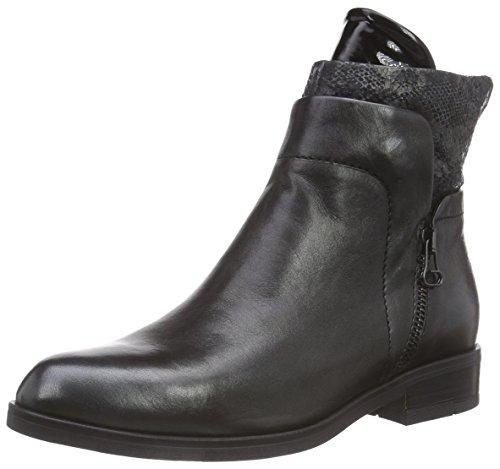 Mjus 767204 - botas de caño bajo de piel mujer negro - negro