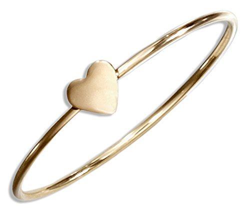 12 Karat Gold Filled Wire Ring with Heart (size 04)