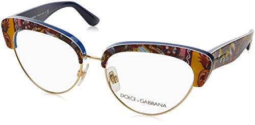 Dolce&Gabbana DG3247 Eyeglass Frames 3036-53 - Top Handcart/blue - Dolce Gabanna And Frames