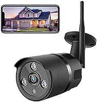 Netvue Caméra de Surveillance Extérieure, 1080P FHD WiFi IP, Compatible avec Alexa, IP66 Étanche à la Poussière, Caméra...
