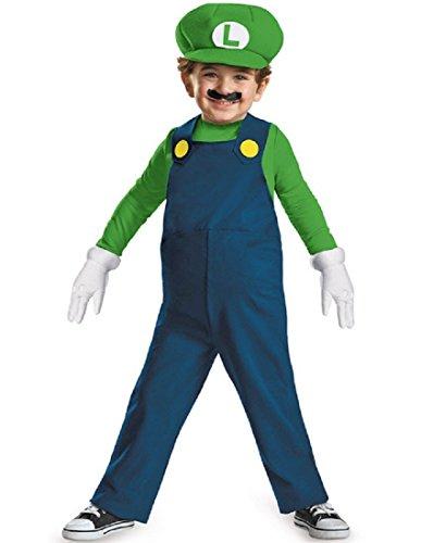 Nintendo Super Mario Brothers Luigi Boys Toddler Costume, Medium/3T-4T -