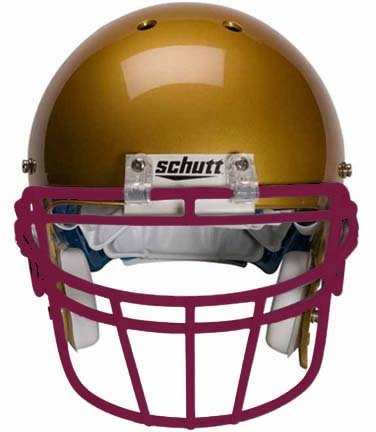 Schutt Maroon Reinforced Oral Protection (ROPO-DW) Full Cage Football Helmet Face Guard from