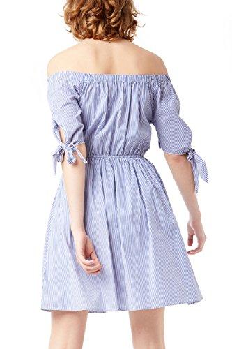 weiß Beige Kleid Damen Weiß Lois qv6ZtxR