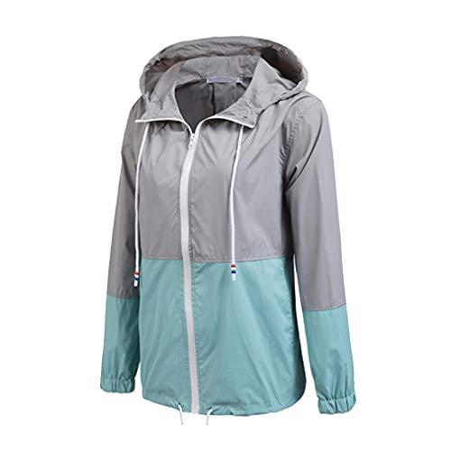 Cappuccio ligth Trench Blu Active Con Donna Antipioggia Grigio Giacca Leggera Impermeabile Outdoor Raincoats Fangcheng q7wvzz