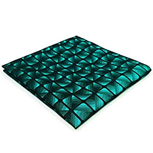 SHLAX&WING Mens Necktie Teal Blue Green Extra Long 63″ Tie Set Unique