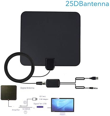 Antena de TV, 80 Miglia de alta calidad en Interior Indoor ...