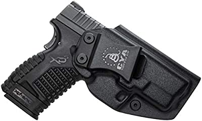 "CYA Supply Co. IWB Holster Fits: Springfield XD-S 3.3"" 9mm / .40S&W / .45ACP Single Stack - Veteran Owned Company - Made in USA - Inside Waistband Concealed Carry Holster"