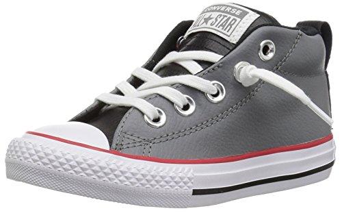 Street Mid Mason/Black/White Sneaker, Grey, 11 M US Little Kid ()