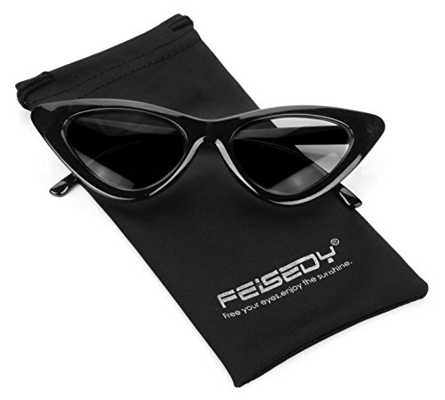 FEISEDY Small Cat Eye Design Clout Goggles Kurt Cobain Sunglasses - Cat Eye Small