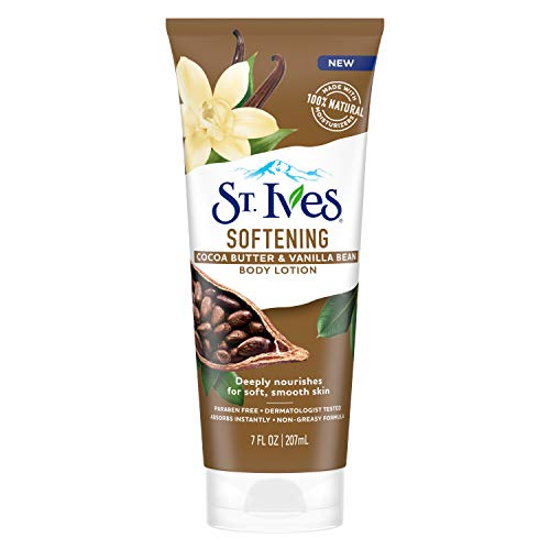 St. Ives Softening Cocoa Butter Vanilla Bean Body Lotion, 7 fl oz