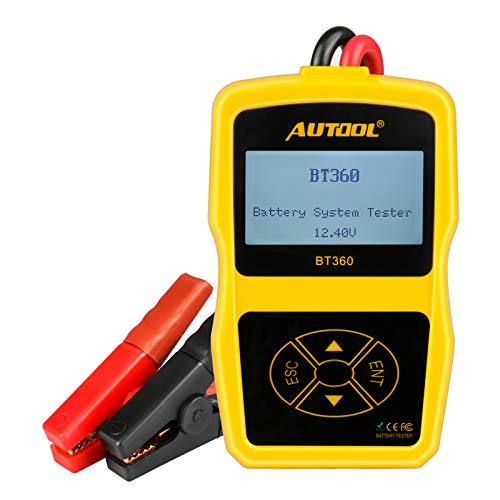 Car Battery Tester Automotive Battery Analyzer for Regular Flooded,Auto Cranking and Charging System Diagnostic Analyzer Cover All 12V Vehicles,Boat