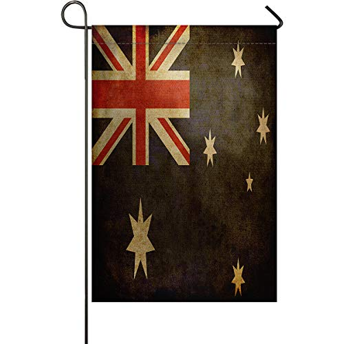 Welcome Garden Flag Australia Pentagram Flags Holiday Decorative Flags Yard Flag House Banners for Indoor Outdoor/Outside Home Decor Double Side Printed Vintage Theme 28x40inch]()