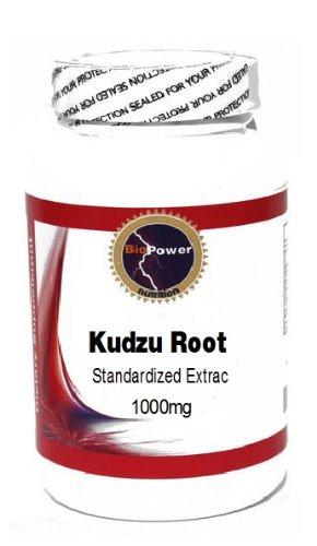 Racine de Kudzu Extrait normalisé 1000mg 100 Capsules # BioPower Nutrition