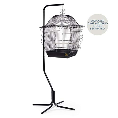 Prevue Hendryx Tubular Steel Hanging Bird Cage Stand 1780 Black, 24-Inch by 24-Inch by 60-Inch